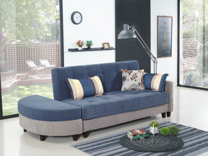 【DH】商品編號 BC153-2商品名稱坐臥兩用布沙發床(圖一)備有棕色/藍色兩色可選.坐椅/臥室床多功能主要地區免運費
