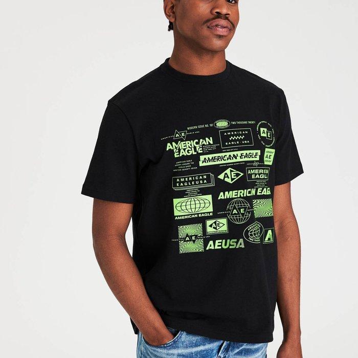 【現貨 3XL】AE 美國老鷹 經典老鷹字母LOGO圖案中磅圓領短T 圓領T恤 短T AMERICAN EAGLE