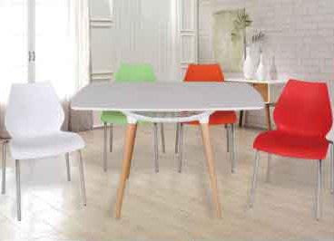 【南洋風休閒傢俱】莉莉椅+筷子腳桌 洽談椅 餐椅 休閒椅 一桌四椅組 另有單售桌椅 (562-3)