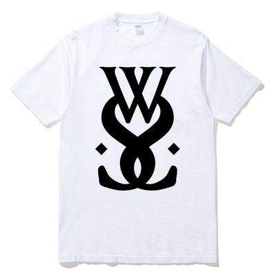 While She Sleeps Logo 當他沉睡樂團 官方 短袖T恤 白色 金屬搖滾樂團 Metal Rock