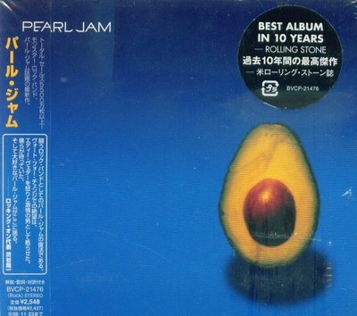 (甲上唱片) Pearl Jam - Best Album In 10 Years - 日盤