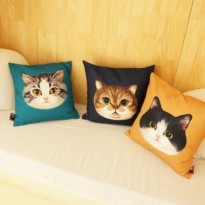 【MU MU Paradise】MEWJI原創  貓咪印花抱枕圍裙4款。G2005211