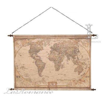 【芮洛蔓 La Romance】 Mindy Brownes 帆布世界地圖 / 掛圖