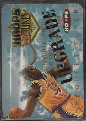 97-98 HOOPS FREQUENT FLYER UPGRADE #10 SHAQUILLE O'NEAL