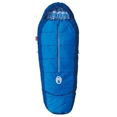 【露營趣】Coleman CM-27270 兒童可調式海軍藍睡袋/C4 化纖睡袋 纖維睡袋