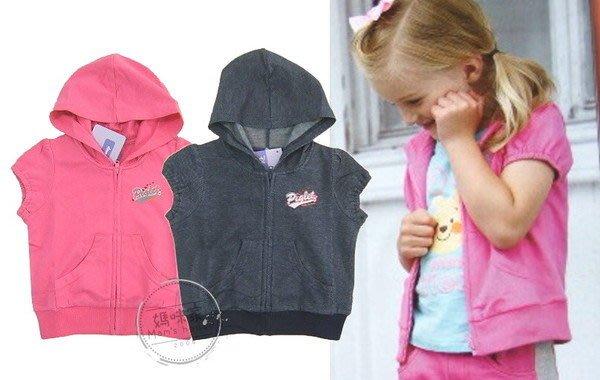 媽咪家【081701】麗嬰房夏 維尼 系列 短袖 連帽 背心 上衣 短袖 外搭 小外套 ~1號.4號.6號