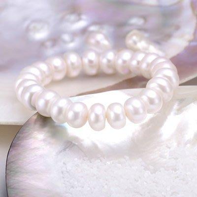 珍珠 手 鍊 手環-9.5-10mm飽滿光澤母親節情人節禮物女飾品73qn41[獨家進口][巴黎精品]