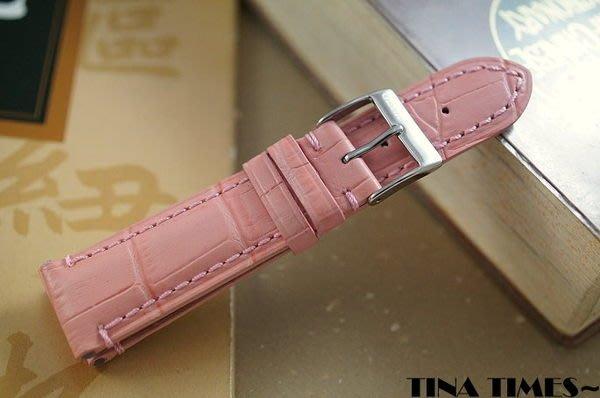 TINA TIMES~高雅唯一訂妝_GISELLE鱷魚紋小牛皮錶帶 專為女性所 的長度 短