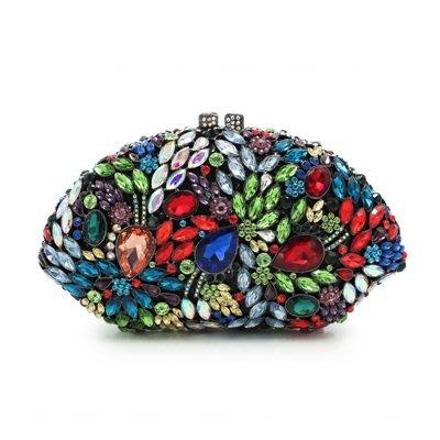 晚宴 包 鑲鑽手拿包-名媛高貴時尚精美女包包5色73su38[獨家進口][米蘭精品]