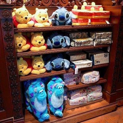 (現貨)玩瞎拚#日本空運代購 東京迪士尼樂園 絨毛玩偶造型面紙套 史迪奇 / 毛怪