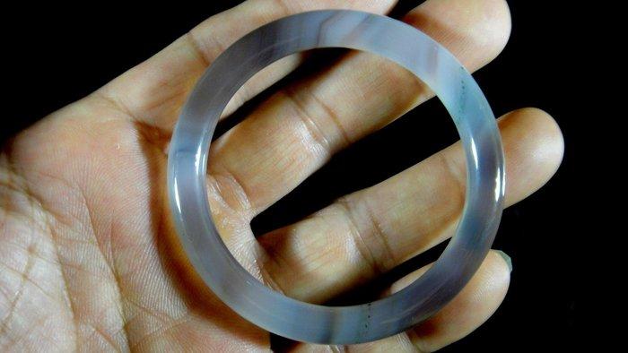 [福田工藝]天然瑪瑙玉鐲/手鐲/手環/內徑5.3cm外徑6.8cm手圍:17.5[瑪鐲12]