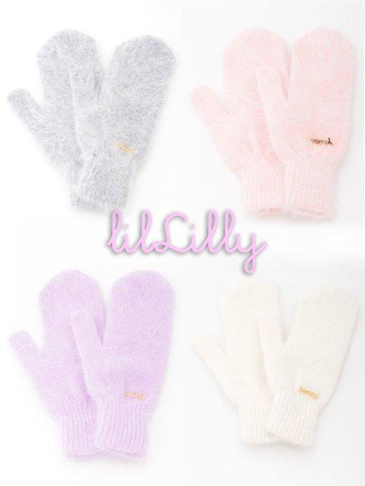 SHINY SPO 獨家代理日本品牌 lilLilly 甜美粉嫩色系安格斯兔毛手套