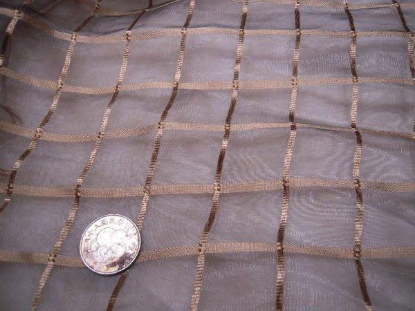 ※布箱子※ 高級進口零碼傢飾布~刺繡雪紡紗(YD81)