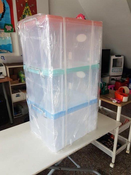 小毛收納館『KEYWAY K016強固型掀蓋整理箱3入』免運 含稅開發票 聯府 床底收納箱 置物箱 透明分類 33L