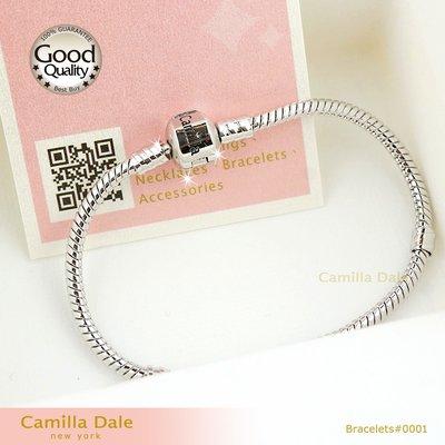 蛇鍊 手鍊 CamillaDale 日製正白K銀飾手鍊 日製高電鍍技術白亮