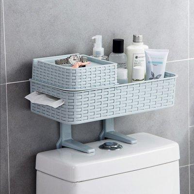 衛生間置物架浴室免打孔收納架多功能吸壁式廁所馬桶塑膠置物架(任選2入)_☆找好物FINDGOODS☆