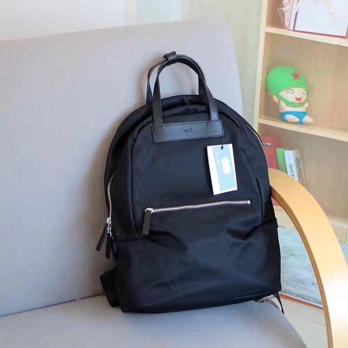 美國大媽代購 agnes.b 時尚LOGO 經典款 防水尼龍 輕便出遊後背包 日本代購 Outlet限量