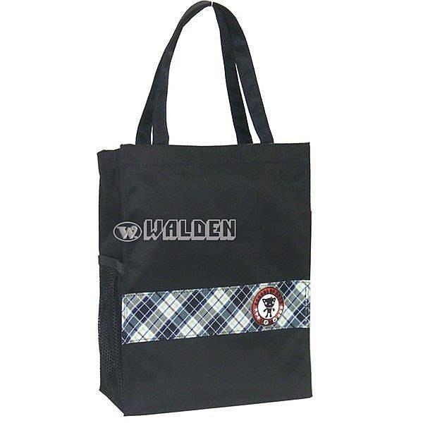 《葳爾登皮件》UNME兒童手提袋便當袋/補習袋/文具袋/購物袋才藝袋/UNME餐袋1318藍格紋