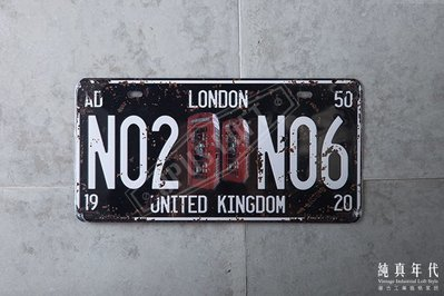 【OPUS LOFT】TP-086 復古車牌 英國 倫敦 LONDON UNITED KINGDOM 電話亭