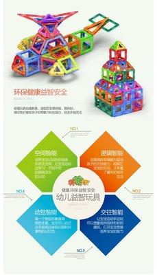 積木百變磁力片磁鐵益智兒童玩具109件套裝 全場88折