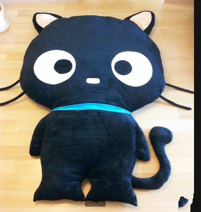 【優上精品】黑貓睡墊床墊地墊懶人沙發家居地墊~榻榻米~實拍~超萌個性禮物懶人(Z-P3143)