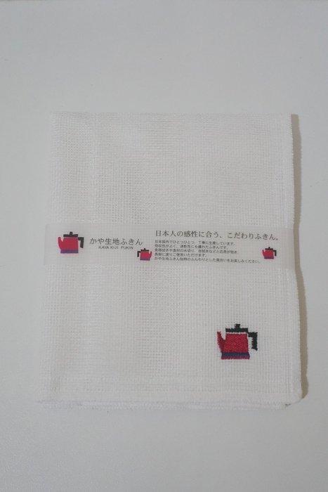 《散步生活雜貨-廚房散步系列》日本製 kaya 生地 敷巾 廚房用抹布 - 紅茶壺