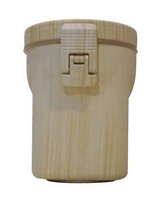 【米拉羅咖啡】巨翰 SPOKE 木紋壓克力密封罐 40OZ 調味料罐 (原木色)