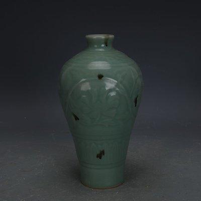 ㊣姥姥的寶藏㊣ 宋代龍泉窯青瓷手工瓷點彩梅瓶  出土古瓷器古玩古董收藏擺件