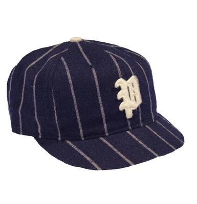 全新 現貨 Ebbets field flannels Beavers 條紋 短帽簷 復古 羊毛 老帽 棒球帽 調節式