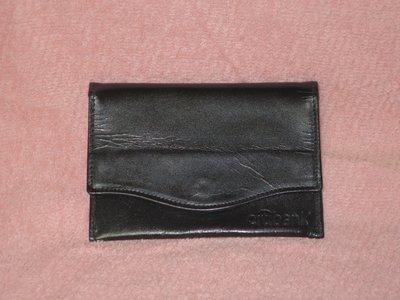 【李歐的二手皮件】9成新以上 citibank 非 MK 黑色 牛皮 真皮 名片夾 卡夾 證件夾 零錢包 下標就賣