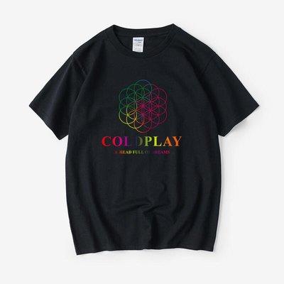 Coldplay 酷玩樂隊 A Head Full Of Dreams 滿腦夢T恤短袖圓領夏