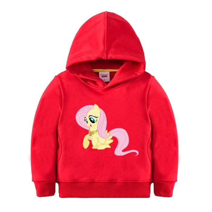 【童裝】韓版小馬寶莉童裝百搭衛衣 女童秋冬加厚外套2-3-4-5-6-7歲大寶寶紅色帽衫