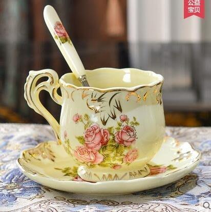 設計師美術精品館友來福 歐式咖啡杯套裝紅茶創意骨瓷陶瓷英式咖啡杯碟下午茶茶具