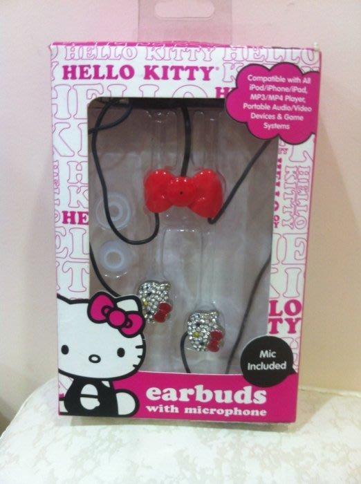 《東京家族》Kitty ipod/iphone/ipad/Mp3/Mp4適用 水晶大頭耳塞式耳機