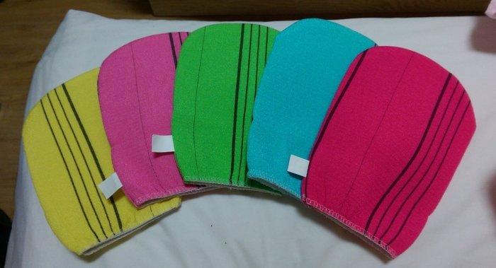 現貨 韓國製 桃紅 綠色 藍色 搓澡布 搓澡手套 搓澡巾 厚大