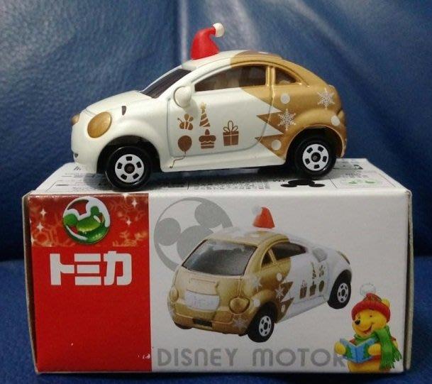 絕版【Tomy Tomica】2013 Disney 迪士尼 小熊維尼 聖誕節 特別仕樣車 白&金色 合金汽車