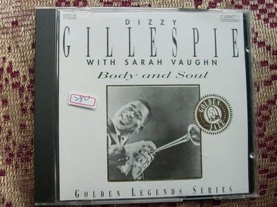 CD~Dizzy Gillerspie With Sarah Vaughn--Body And Soul...曲目如圖示