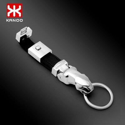 港灣之星- 汽車鑰匙扣 男士頭層皮 個性創意豹頭金屬鑰匙鏈腰掛(規格不同價格不同喔)