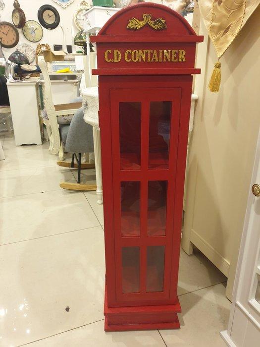 工業風   電話亭造型 CD櫃 小書櫃  民宿  店面