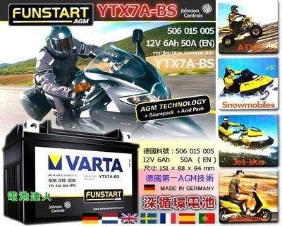 ☼ 台中苙翔電池►德國華達 VARTA 機車電池 高啟動長壽命實現 YTX7A-BS GTX7A-BS KYX7A-BS