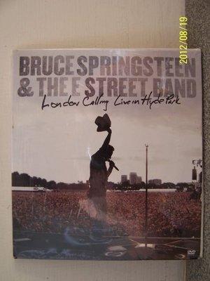 855.布魯斯史普林斯汀Bruce Springsteen 倫敦海德公園演唱會(2DVD),全新未拆封