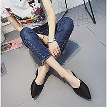 新品時搭包頭半拖鞋夏季尖頭涼拖鞋女鞋 『青木居家』gw