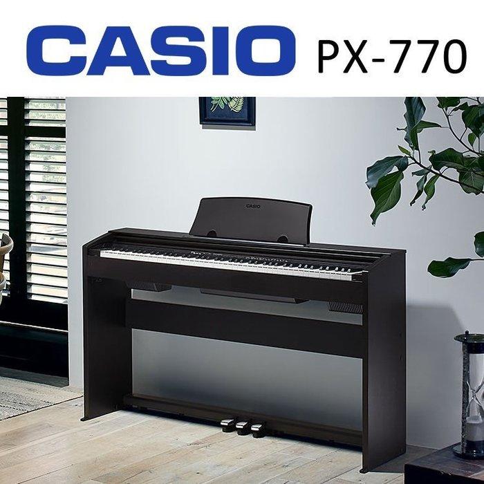 ☆ 唐尼樂器︵☆ CASIO 卡西歐 PX-770 PX770 模擬傳統鋼琴AiR音源技術數位電鋼琴(另有PX-160)