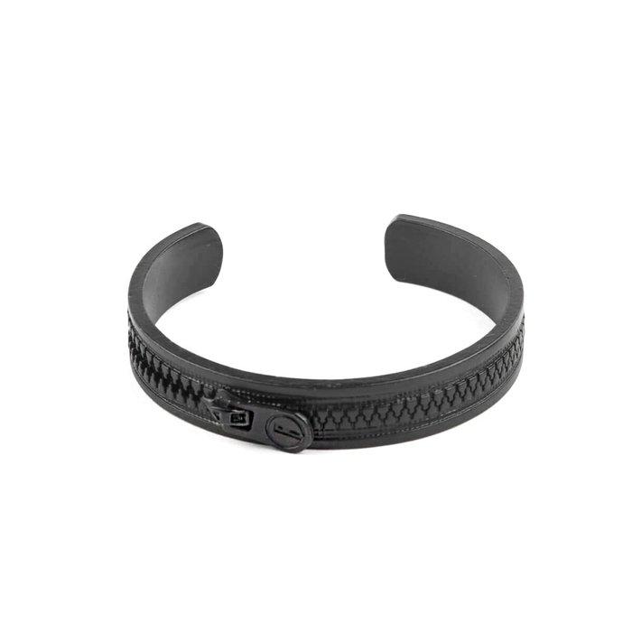 美國東村【Recovery 】拉鍊手環 (黑色)