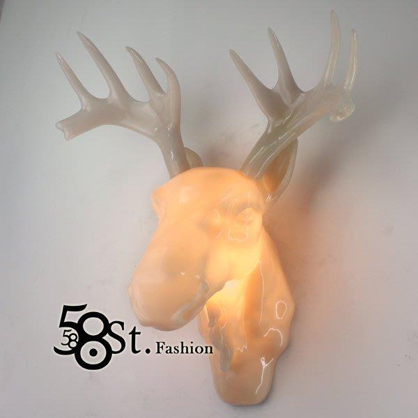 【58街】「鹿頭、鹿角壁燈,仿雲石款式」低調時尚設計師的燈。複刻版。GK-316