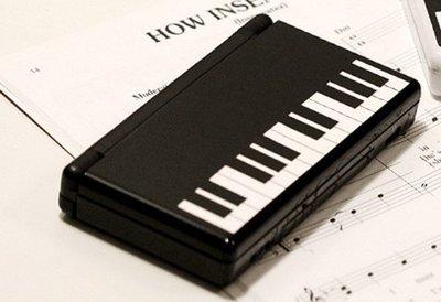 *YOOWOO*【韓國空運 EB 任天堂 DS 彩繪機身保護貼 ~ 黑白鋼琴】NDS 不留殘膠