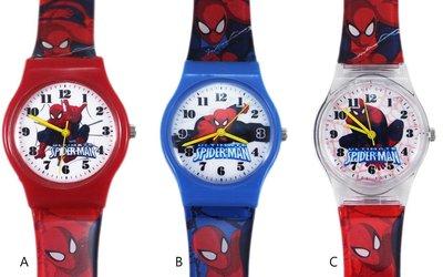 【卡漫迷】 蜘蛛人 手錶 兩款選一(A款售完) ㊣版 Spiderman 膠錶 蜘蛛俠 男童 卡通錶 兒童錶 男錶 童錶