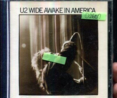 *還有唱片四館* U2 / WIDE AWAKE IN AMERICA 二手 D2607