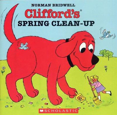 *小貝比的家*CLIFFORD'S SPRING CLEAN-UP/平裝/3~6歲