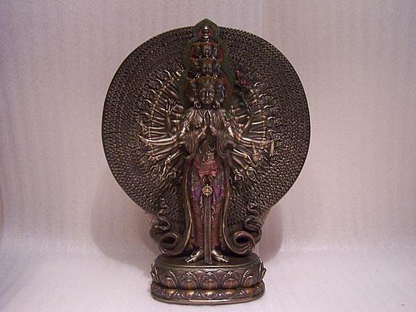 手工彩繪 佛像系列-千手千眼觀音 菩薩 ]-觀世音 神像 雕像.